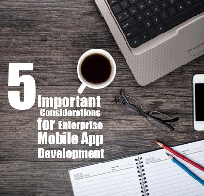 5 Important Considerations for Enterprise Mobile App Development